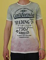 Мужская футболка F-STAR 853 серо-розовая код 0142В