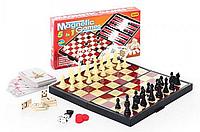 Настольная игра на магнитах Шахматы 9841 4 в 1 (шашки, шахматы, нарды, карты) HN