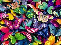 Алмазная вышивка Небо в бабочках KLN 40 х 30 см (арт. FS190) полное заполнение