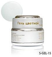 Белый перламутровый гель с микроблестками Lady Victory LDV S-GEL-15 /0-2