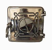 Чугунная печная дверца Dunántúl 25х25см-22х22см (полированная)