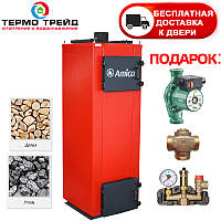 Котел длительного горения Amica Time U (Амика Тайм У) 40 кВт с автоматикой и вентиля