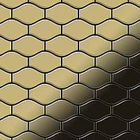 Мозаика из цельного металла прокатная латунь золотого цвета толщиной 1,6 мм ALLOY Karma-BM | дизайнер Карим Рашид