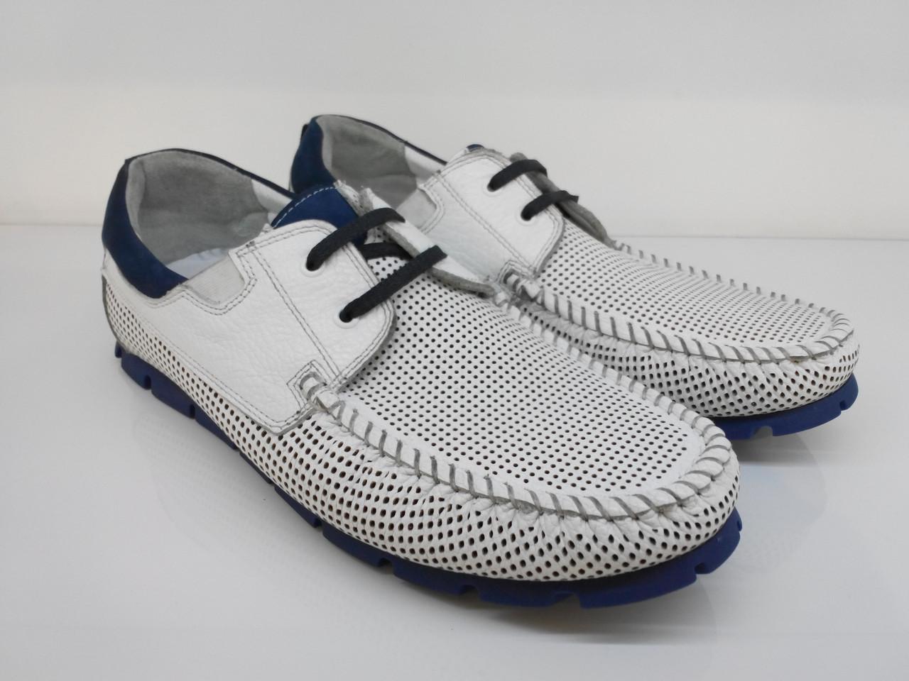 Мокасины Etor 13651-16654-439 белые