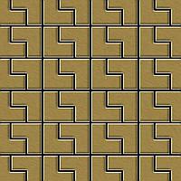 Мозаика из цельного металла шлифованный титан Gold золотого цвета толщиной 1,6 мм ALLOY Kink-Ti-GB | дизайнер Карим Рашид