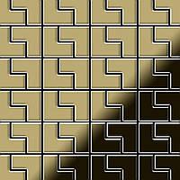 Мозаика из цельного металла прокатная латунь золотого цвета толщиной 1,6 мм ALLOY Kink-BM | дизайнер Карим Рашид