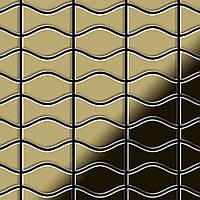 Мозаика из цельного металла прокатная латунь золотого цвета толщиной 1,6 мм ALLOY Kismet & Karma-BM | дизайнер Карим Рашид