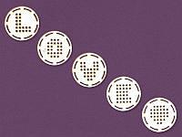 Чипборд для вышивки от ScrapBox — Кружочки love, 20x20 мм, 5 элементов