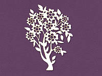 Чипборд от ScrapBox — Цветущее дерево, 53x75 мм, 1 шт