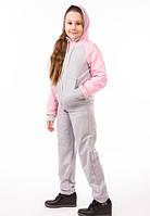 Детский спортивный костюм для девочки летний трикотажный 00-05