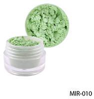 Зелений пігмент для гелю й акрилової пудри Lady Victory LDV MIR-010 /81-0