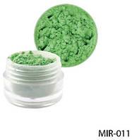 Светло-зелёный пигмент для геля и акриловой пудры Lady Victory LDV MIR-011 /81-0