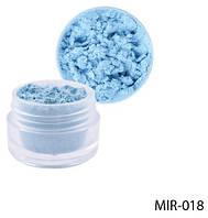 Блідо-блакитний пігмент для гелю й акрилової пудри Lady Victory LDV MIR-018 /81-0