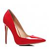 Стильные красные туфли лодочки на шпильке от ТМ Vices (Польша)