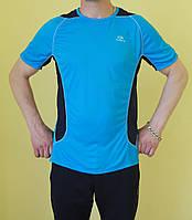 Мужская футболка Kalenji 114-123 голубая с темно синим код 0148В