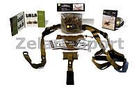 TRX Петли подвесные тренировочные Kit Force T1 (функ.петли,дверное креп,DVD,сумка, хаки)