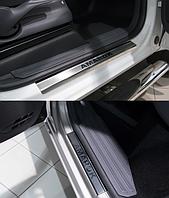 Накладки на пороги Volkswagen Amarok 2010- 4шт. premium