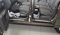 Накладки на пороги Volkswagen Caddy III/IV 2004- 4шт. premium
