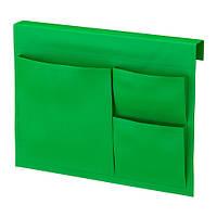 STICKAT Карман д/кровати, зеленый