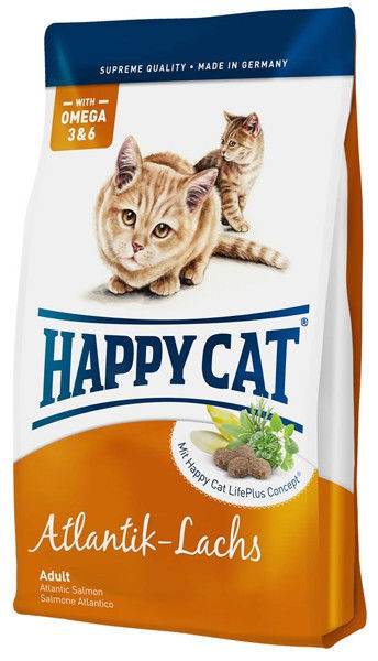 Корм для кошек с лососем Happy Cat Atlantik Lachs