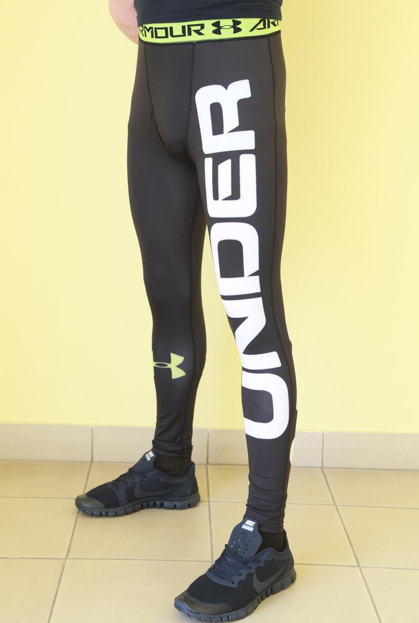 Мужские спортивные лосины XFit (8996) черно-салатовые код 376Б, ... edadb6e6889