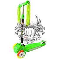 Самокат детский 3-х колёсный Scooter Kids зелёный