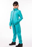 Детский спортивный костюм для девочки летний трикотажный 80-06