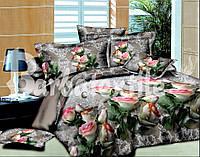 Комплект постельного белья евро ажурная  роза