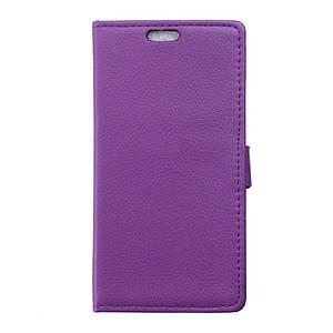 Чехол книжка для BlackBerry Priv боковой с отсеком для визиток и отверстием под динамик, Фиолетовый