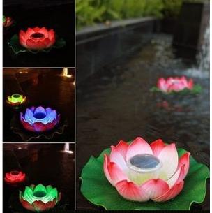декоративный цветок с подсветкой для воды