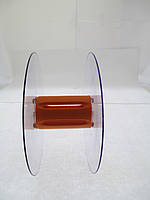 Катушка для мерных материалов : тесьма, ленты, шнуры.  (диаметр 121 мм диаметр катушки 35 мм ширина 53 мм)