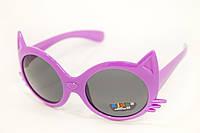 Солнцезащитные очки для девочки с фиолетовой оправой