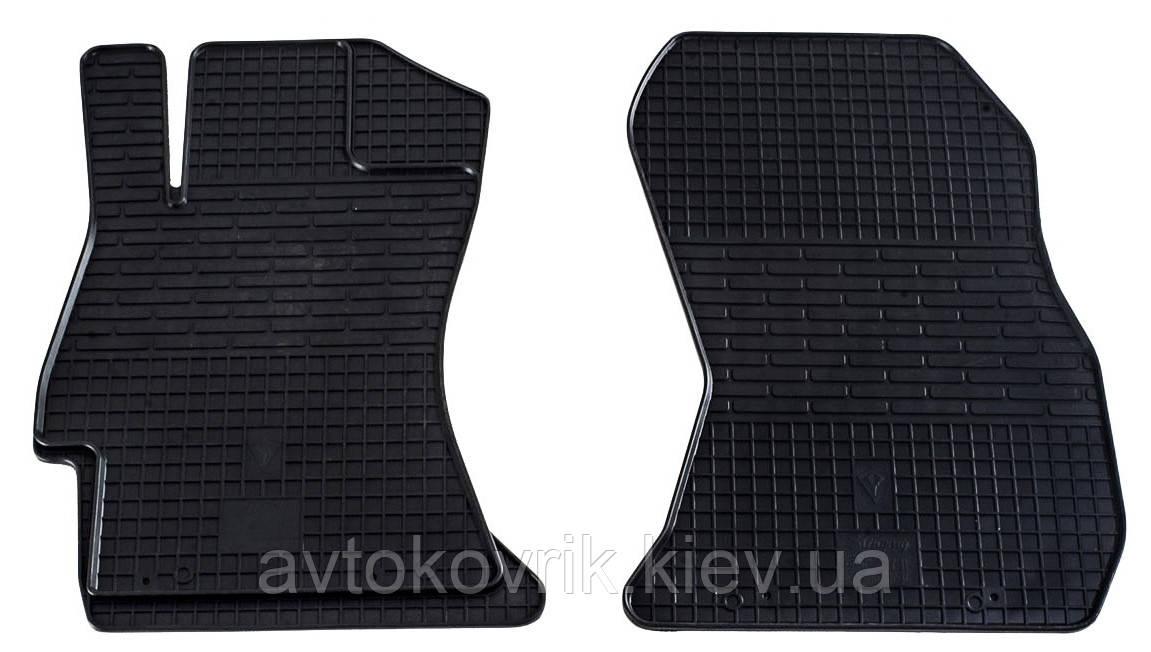 Резиновые передние коврики в салон Subaru Forester IV (SJ) 2012- (STINGRAY)