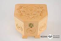 Эксклюзивная шкатулка ручной работы из натурального дерева, фото 1