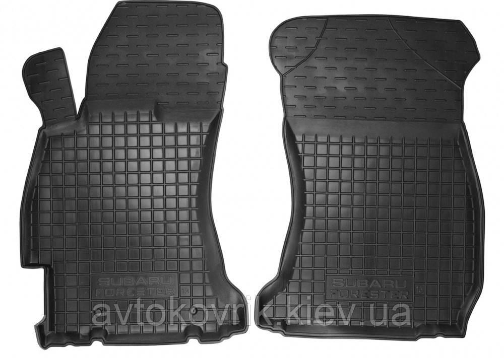 Полиуретановые передние коврики в салон Subaru Forester IV (SJ) 2013- (AVTO-GUMM)