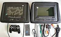 """Монитор автомобильный на подголовник Silver Stone F1-733 (7"""") DVD USB SD GAMES BL черный цвет комплект 2 шт"""
