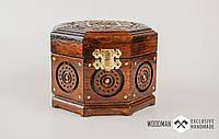 Эксклюзивная шкатулка ручной работы из натурального дерева