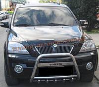 Защита переднего бампера кенгурятник низкий с надписью D60 на  Kia Sorento 2002-2009