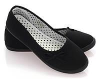 Женские балетки Алина черный, фото 1