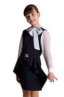 Школьный сарафан  Алиса  темно-синий р 128-152
