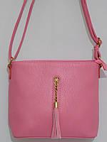 Клатч красивый повседневный розовый, фото 1