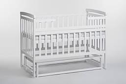 Детская кроватка трансформер Лодочка б/ящ. белая Детский Сон
