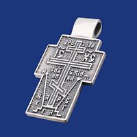 Нательный Крест из серебра с чернением 34491