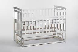 Детская кроватка трансформер Лодочка ваниль б/ящ. Детский Сон