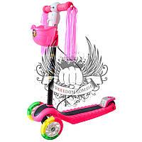 Самокат детский 3-х колёсный BavarSport Perfect Розовый