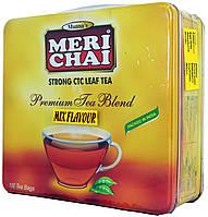"""Чай черный индийский  """"MeriChai"""" """"Мікс"""" 100пак. 200г. желез.упаковка"""