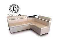 Кухонный диван с полкой на угловой спинке