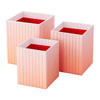 HEJSAN Стакан д/ручек, 3 шт., оранжевый, разноцветный