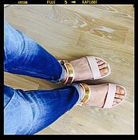 Супер легкие и нежные силиконовые босоножки бежевого цвета 39,40 размеры