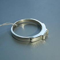 Срібне жіноче кільце з фианитом, фото 3